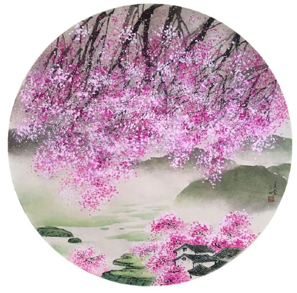 廖美蘭-春緋Spring Pink