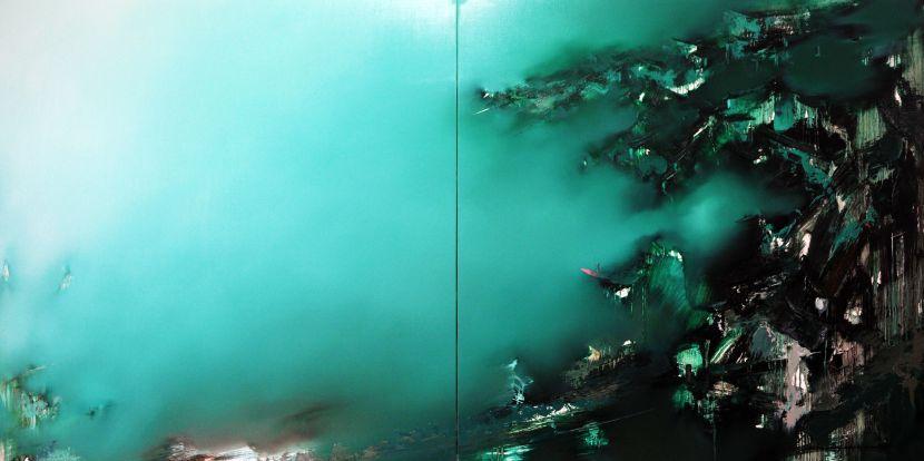 高小云-翠色墨雨Emerald Green Dusk Rain