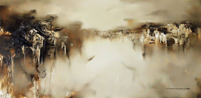 高小云-幽夢之二Secluded Dream 2布面油彩