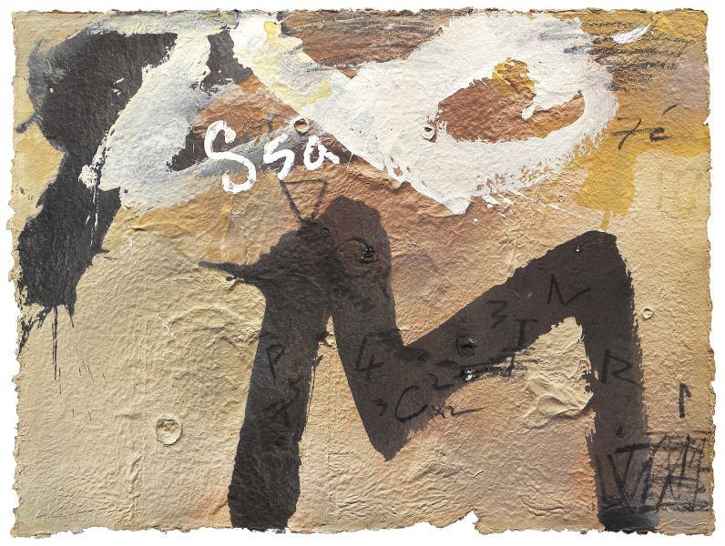 戴壁吟-土黃上的白字黑字