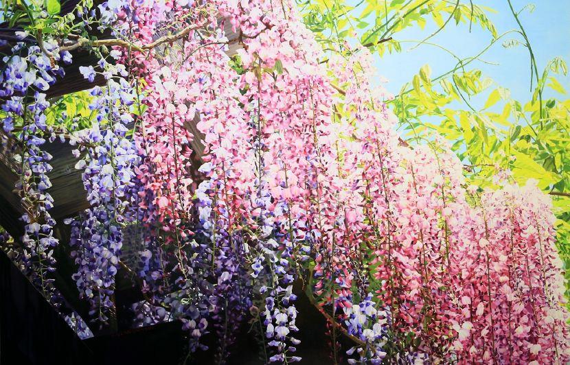 林嶺森-紫色瀑布 Wisteria Falls