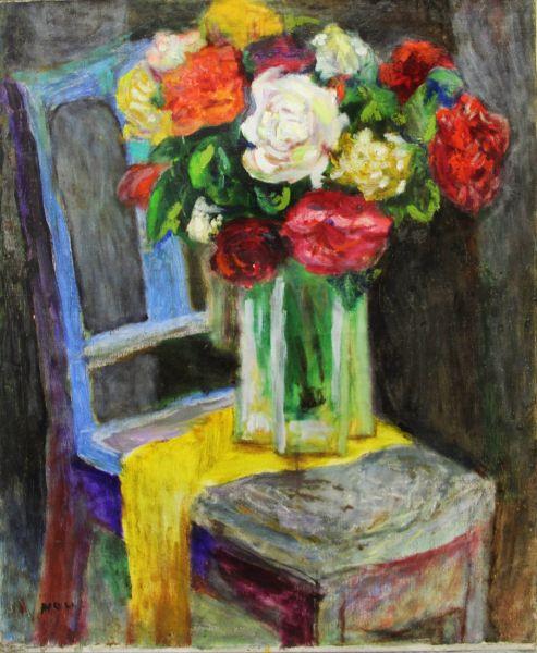 侯錦郎-椅子上的牡丹花