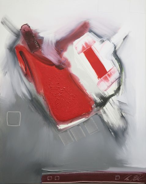 Uwe Mertsch-Red on Grey