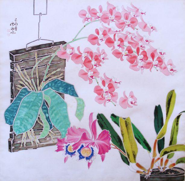 郭雪湖-雙蘭爭美