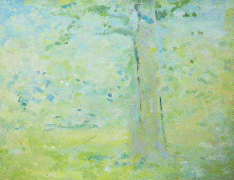 陳德旺-有樹的風景 Landscape