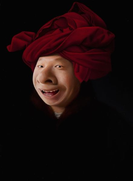 盧昉-戴紅帽的大鼻子 Mr. Big Nose on a Turban