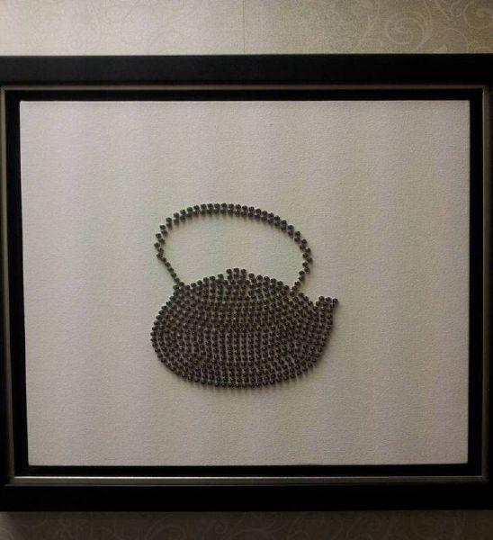 加藤智大-489顆螺絲 489 screws on a canvas