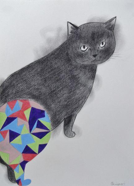 宮城勝規-謙卑的貓 Modest Cat