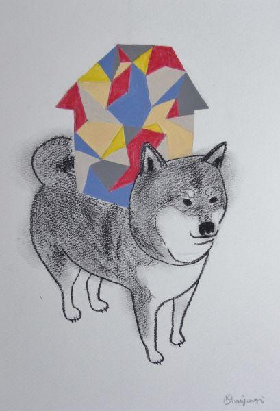 宮城勝規-小碎花柴柴Fractal Shiba Inu  (Drawing)