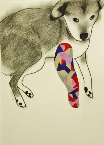 宮城勝規-狗兒的幾何右臂 Geometric Right Arm Dog