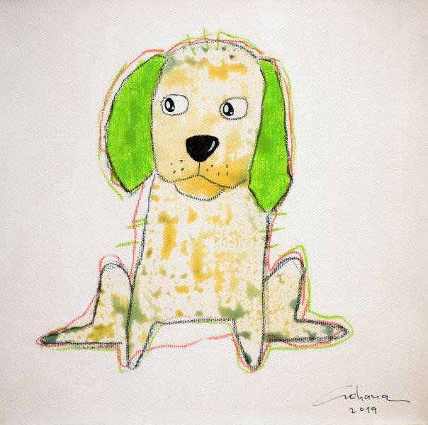 安恰娜‧恰麗亞琶朋-(NEW)白色系列:寵愛狗狗 #21