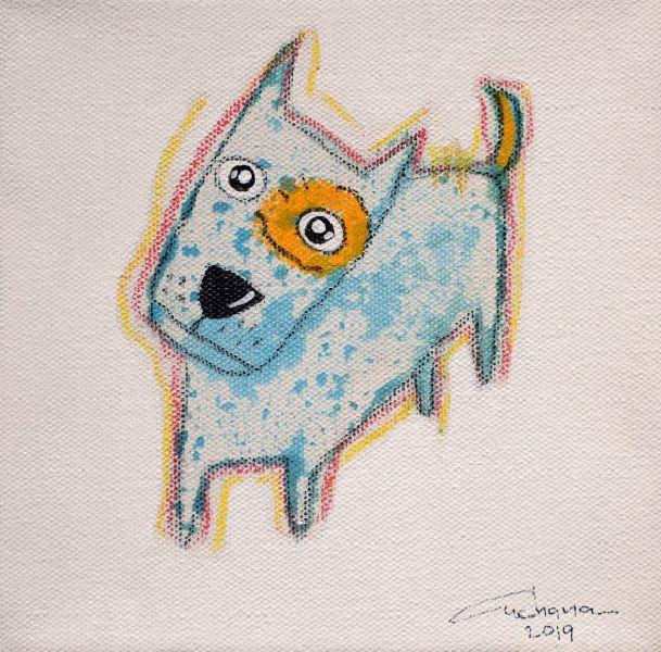 安恰娜‧恰麗亞琶朋-(NEW)白色系列:寵愛狗狗 #3S