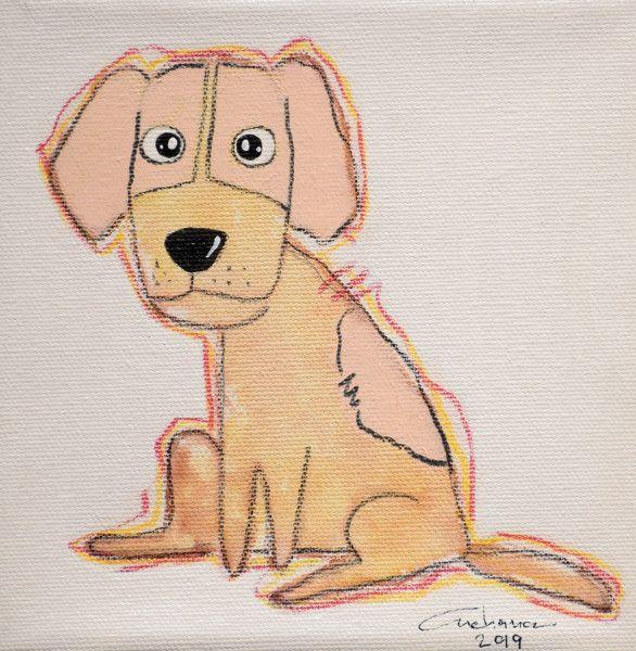 安恰娜‧恰麗亞琶朋-(NEW)白色系列:寵愛狗狗 #6S
