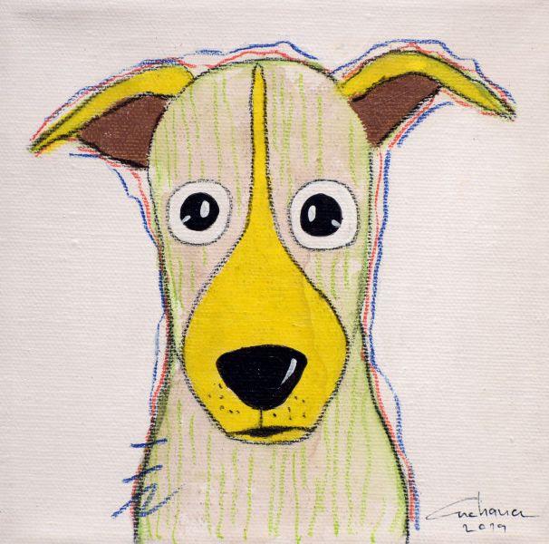 安恰娜‧恰麗亞琶朋-(NEW)白色系列:寵愛狗狗 #2S