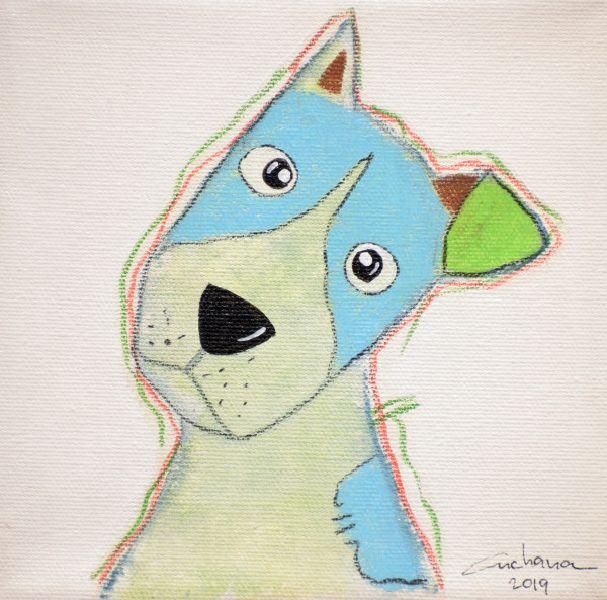 安恰娜‧恰麗亞琶朋-(NEW)白色系列:寵愛狗狗 #9S