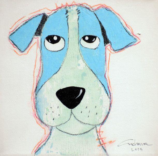 安恰娜‧恰麗亞琶朋-(NEW)白色系列:寵愛狗狗 #7S