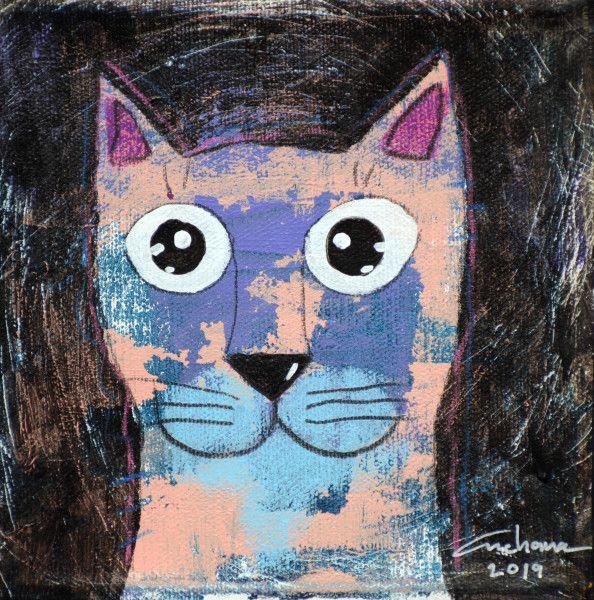 安恰娜‧恰麗亞琶朋-(NEW)黑色系列:寵愛貓咪 #1S