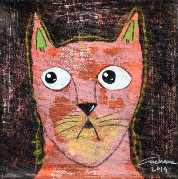 安恰娜‧恰麗亞琶朋-(NEW)黑色系列:寵愛貓咪 #4S