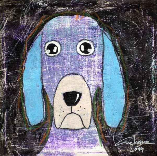 安恰娜‧恰麗亞琶朋-(NEW)黑色系列:寵愛狗狗 #4S