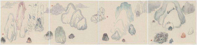袁慧莉-勢山水no.21-22-23-24    Intrinsic Potential Landscapeno.21-22-23-24