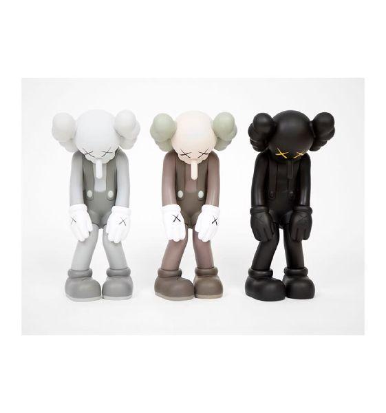KAWS- Small Lie (Black, Grey, Brown) - SET of 3 小謊言 - 三件一組