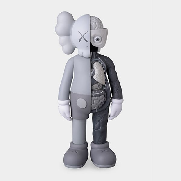 KAWS-KAWS Flayed Gray COMPANION Figure