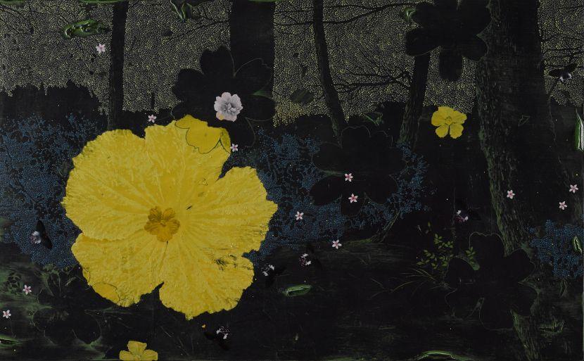 傅作新-花與蝶 Fleur et Papillon