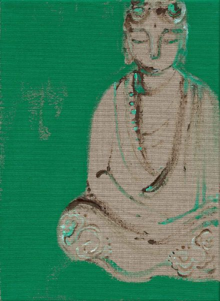 曾亞琪-睡佛 (綠) Reclining Buddha (Green)