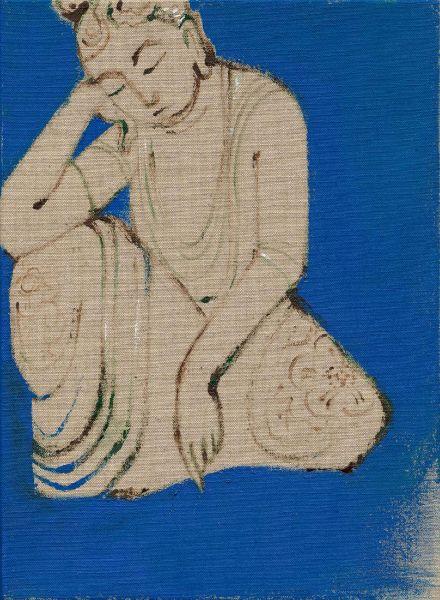 曾亞琪-睡佛 (藍) Reclining Buddha (Blue)