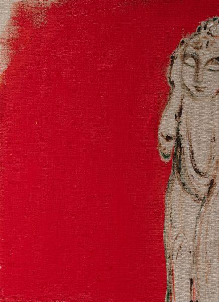 曾亞琪-睡佛 (紅) Reclining Buddha (Red)