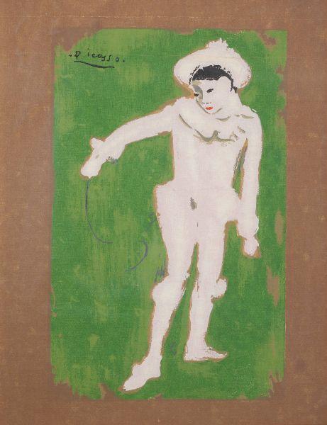 巴勃羅·畢卡索-白色小丑