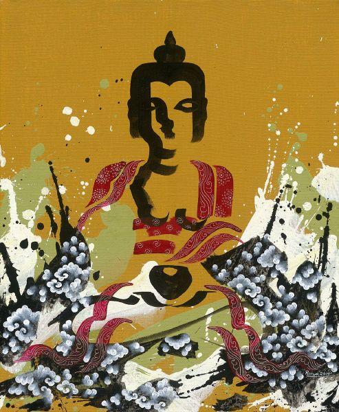 Pema Tshering-Buddhas of three times (yellow)
