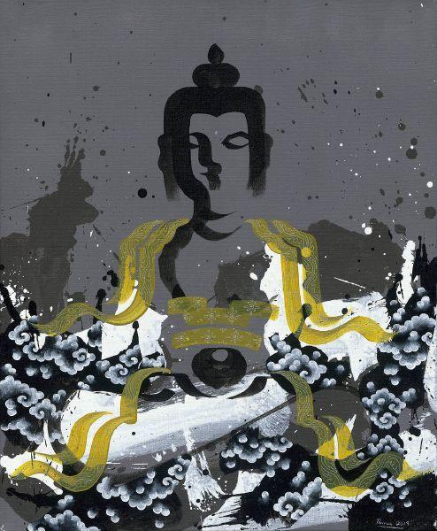 Pema Tshering-Buddhas of three times (gray)