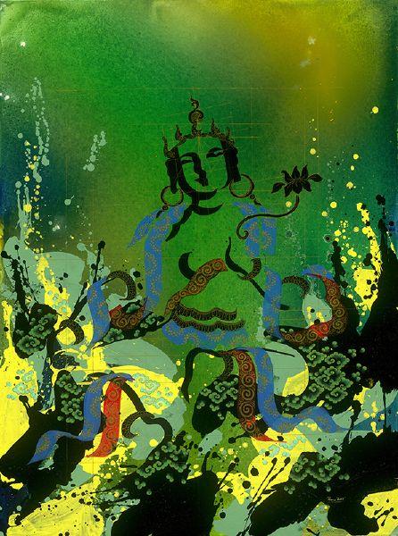 Tintin Pema Tshering 丁丁.佩瑪哲星-Green Tara