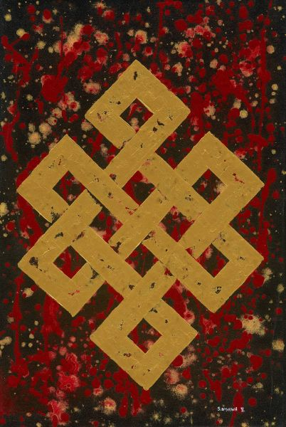 S.Bishwa Ⅱ-Endless Knot in Red