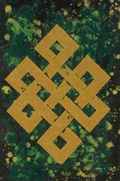 S.Bishwa Ⅱ-Endless Knot in Green 2145