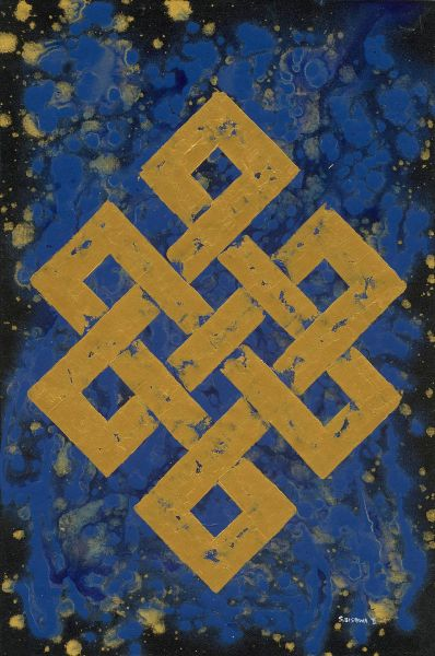 S.Bishwa Ⅱ-Endless Knot in Blue