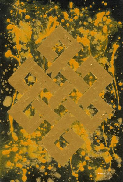 S.Bishwa Ⅱ-Endless Knot in Yellow
