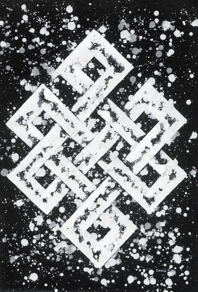 S.Bishwa Ⅱ-Endless Knot in white