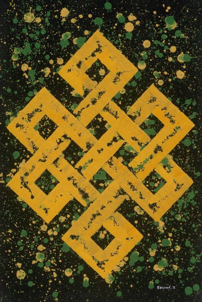 S.Bishwa Ⅱ-Endless Knot in green