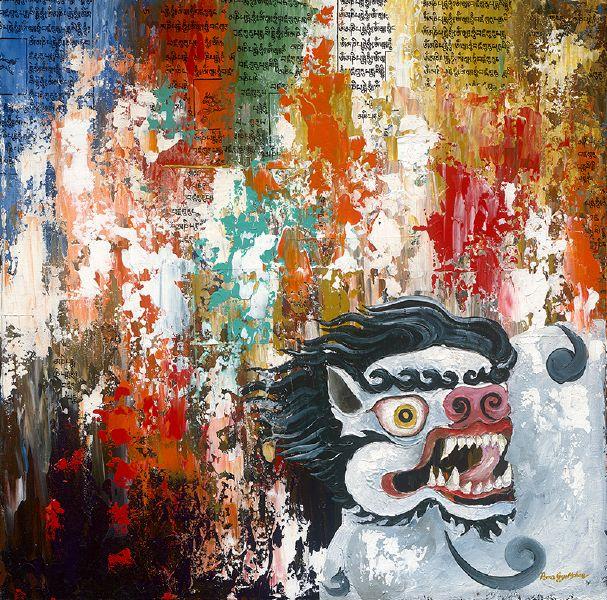 Pema Gyeltshen-五大神獸 雪獅 Seng:Snow Lion