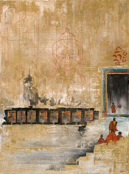 Asha Kama-Mani Wheel with Golden Wall