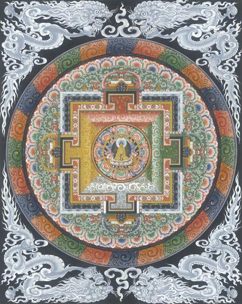 Gyempo Wangchuk 金寶.旺楚克-Buddha mandala 釋迦牟尼佛曼陀羅