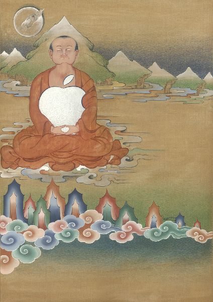 Gyempo Wangchuk 金寶.旺楚克-The Monk with an Apple 科技的沉思