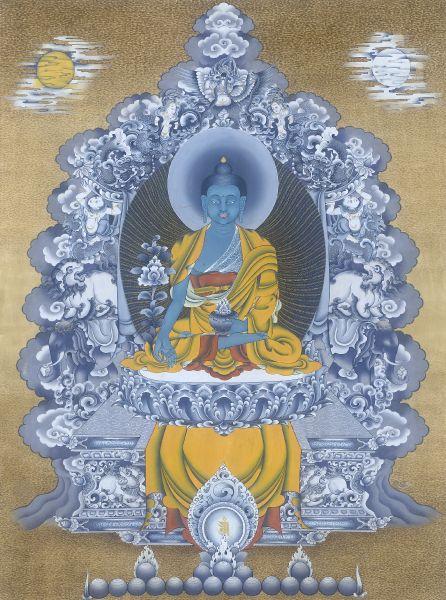 Gyempo Wangchuk 金寶.旺楚克-Medicine Buddha 藥師佛