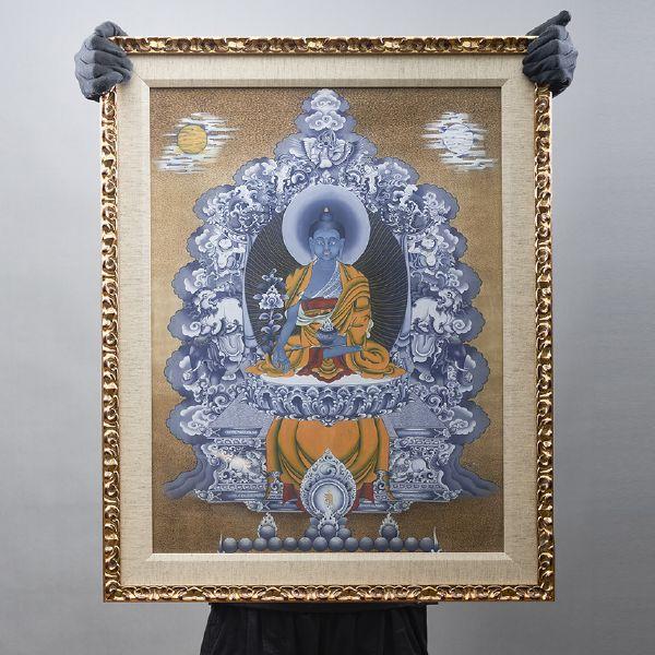 Gyempo Wangchuk 金寶.旺楚克-Medicine Buddha 藥師佛 (版畫)