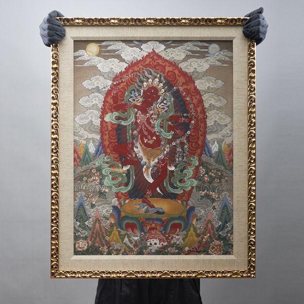 Gyempo Wangchuk 金寶.旺楚克-Kurukulle 咕嚕咕列佛母(版畫)