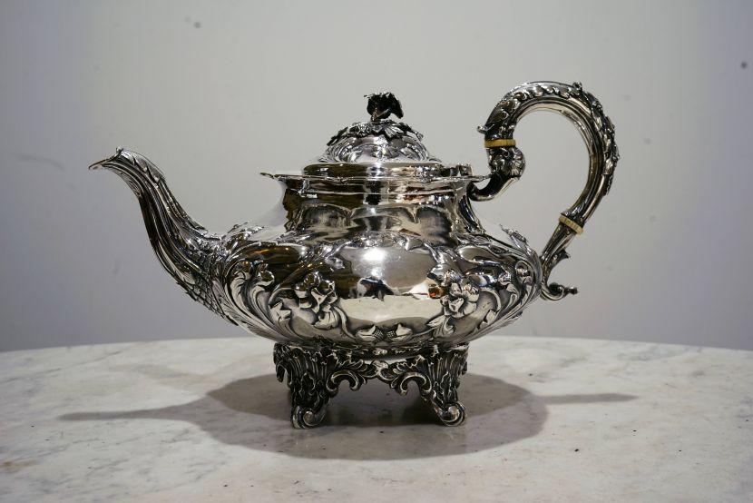 銀器-維多利亞風格銀壺