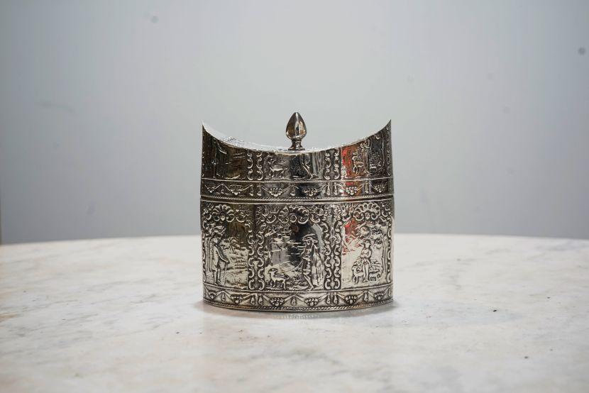 銀器-荷蘭銀罐