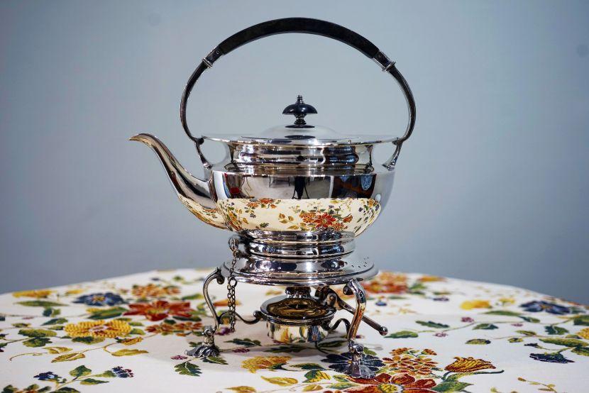銀器-英國戶外保溫銀壺